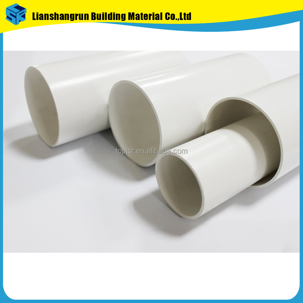 8 24 inch PVC building rainwater drain pipe for drainage