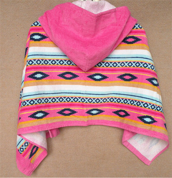 lovely design children/child cheap microfiber towel surf poncho beach