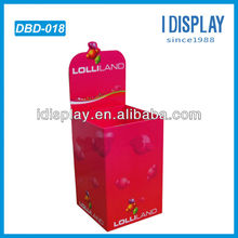 Cardboard exhibition stands products dump bin display