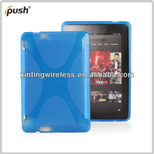 New X Line Soft TPU Gel Case For Amazon Kindle Fire HD X7 Mobile Phone Skin Case