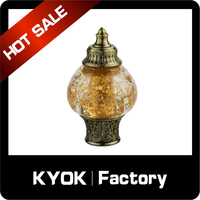 KYOK New design 16/19mm modern curtain finials, New Model Delicate Luxury Crystal curtain rod finials
