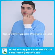 sauna body suit knit cuffs blue non woven dental disposable gown disposable laboratory gown