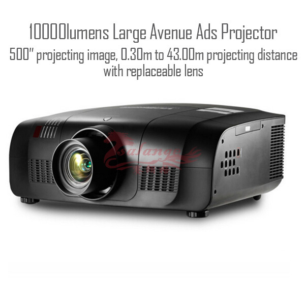 High lumens <strong>3</strong> LCD projector with 10000 lumens 1920x1200p for outdoor advertising