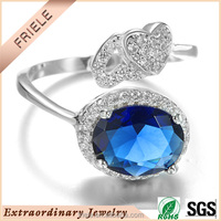 New ladies smart rings silver Fashion jewelry silver open rings 925 sterling silver rings for women