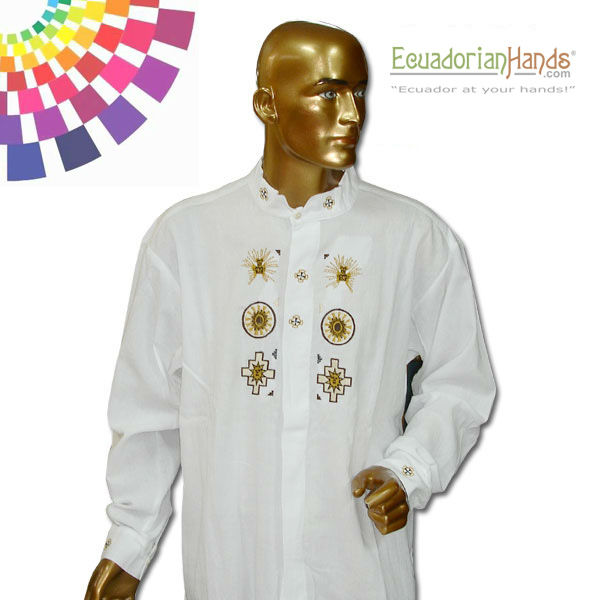 Ethnic clothing - Otavalo Shirt 5 Hand Embroidered 100% Cotton