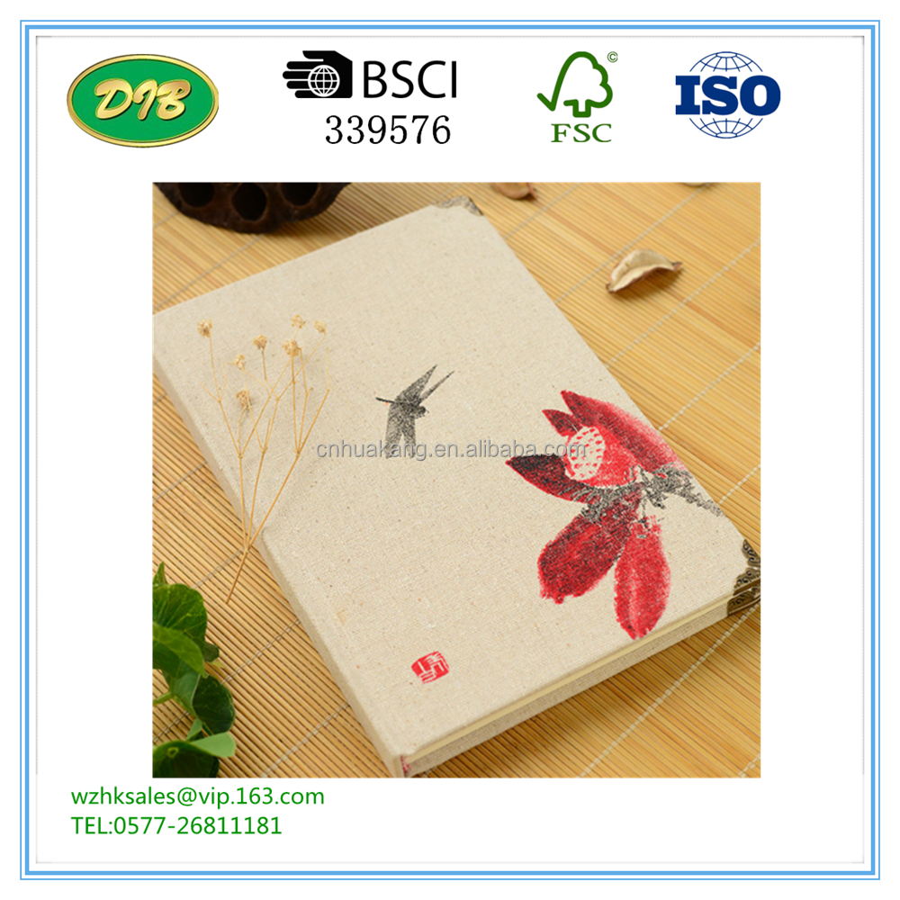Creative linen Book retro Chinese style notebook stationery 32K notebook thickening A5 diary book