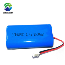 2S1P Icr18650 Rechargeable 18650 Li Ion 7.4V 2500Mah Li-Ion Lithium Battery Pack