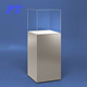China Custom Pedestal Museum Mdf Portable Plexiglass Wooden Floor Display Stand