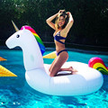 2017 rainbow color giant unicorn swimming pool loungers