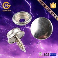 New arrival iron nickle color screw button as bag parts