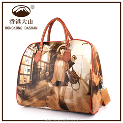 2016 colourful handbags, trendy printed tote Bag Manufacture in China Online Shoping