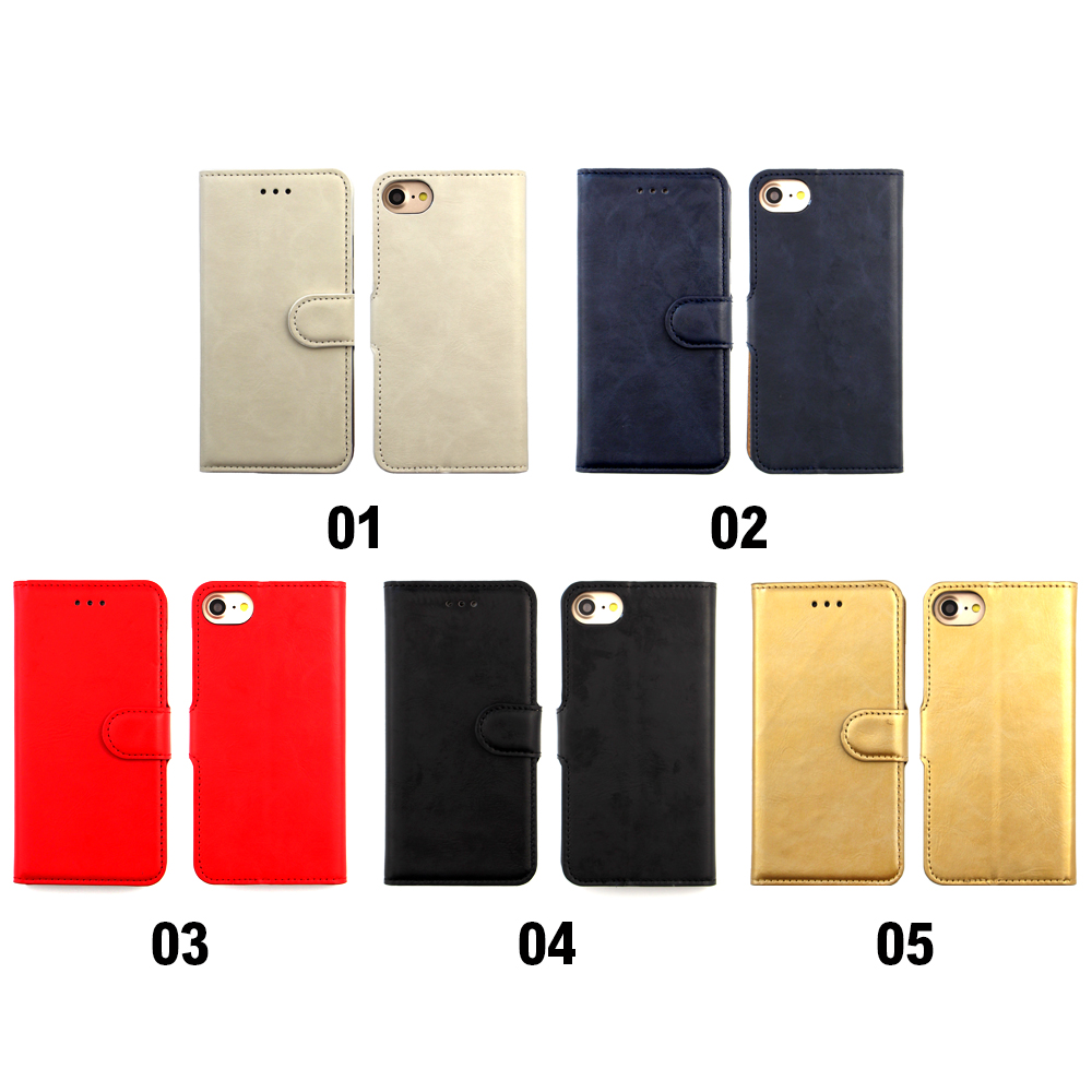 Alibaba Express China Credit Card Slot PU Leather Flip Back Cover Phone Case for iPhone 7