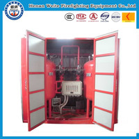 Automatic fire extinguishing system of superfine powder
