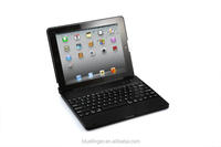Clamshell wireless Bluetooth keyboard case for iPad234 with 4000mah battery,rechargable folio calmshell Bluetooth keyboard