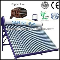 pressurized direct-plug solar water heating system