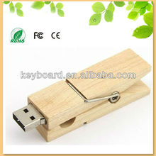 wood clothespin usb flash drive in bulk factoy wholesale