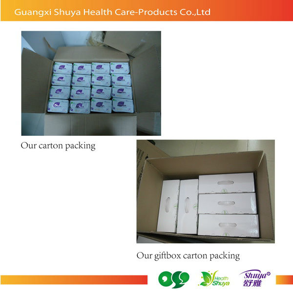 Shuya lady anion menstrual pad sanitary napkin with negative ion