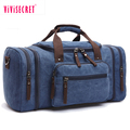 Elegant and high-end reisetasche men canvas and leather messenger shoulder handbag tote weekender Bag
