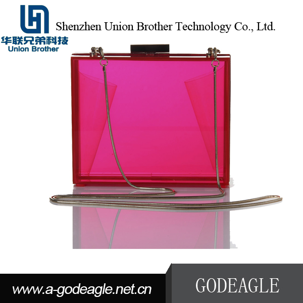 Handmade luxurious beautiful acrylic clutch bag