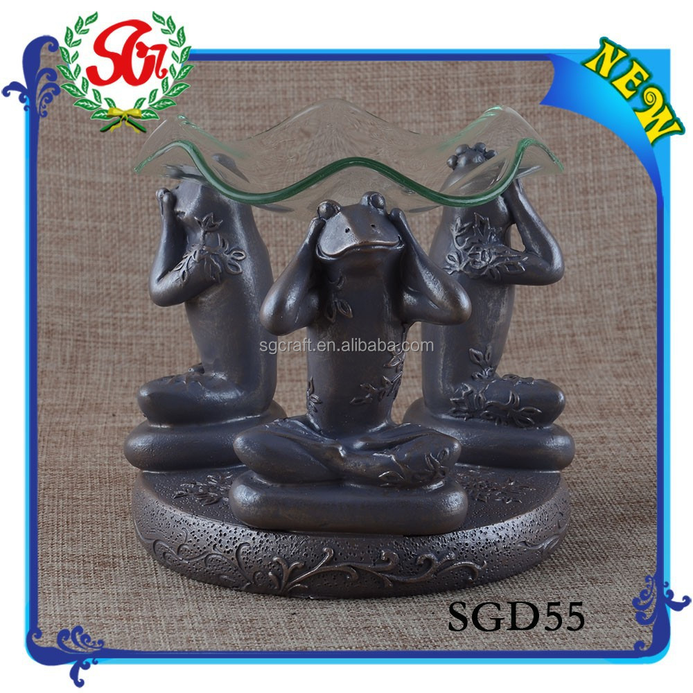 SGD55 Aroma Oil Burner And 3 Arm Tealight Candle Holder Flower Shape