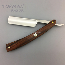 RRW1701 Topman cutthroat straight barber razor with wood handle