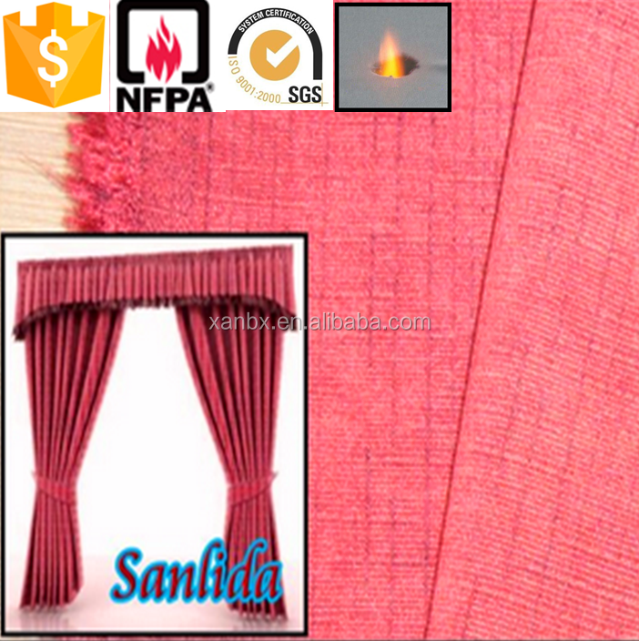 High Quality 100% Polyester Hot Sale Jacquard Chenille Fabric Curtain