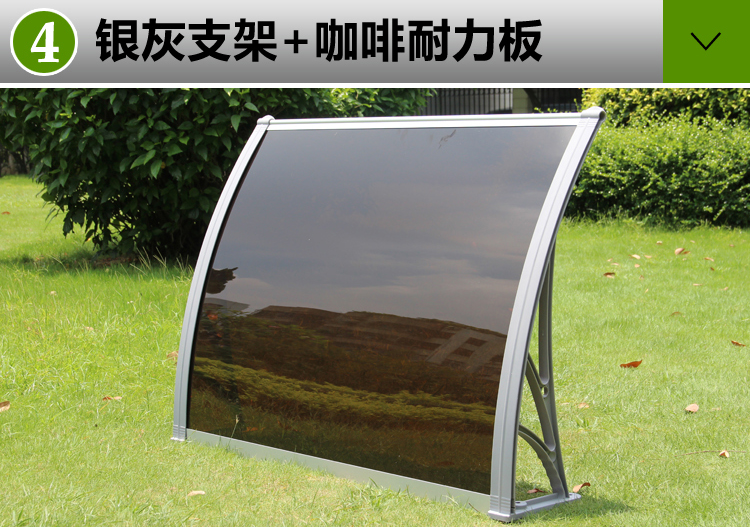 waterproof pergola outdoor/ roof top canopy/aluminium carport polycarbonate canopy roof