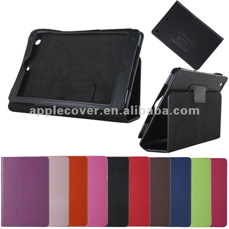 Litchi stand pu leather case for ipad mini