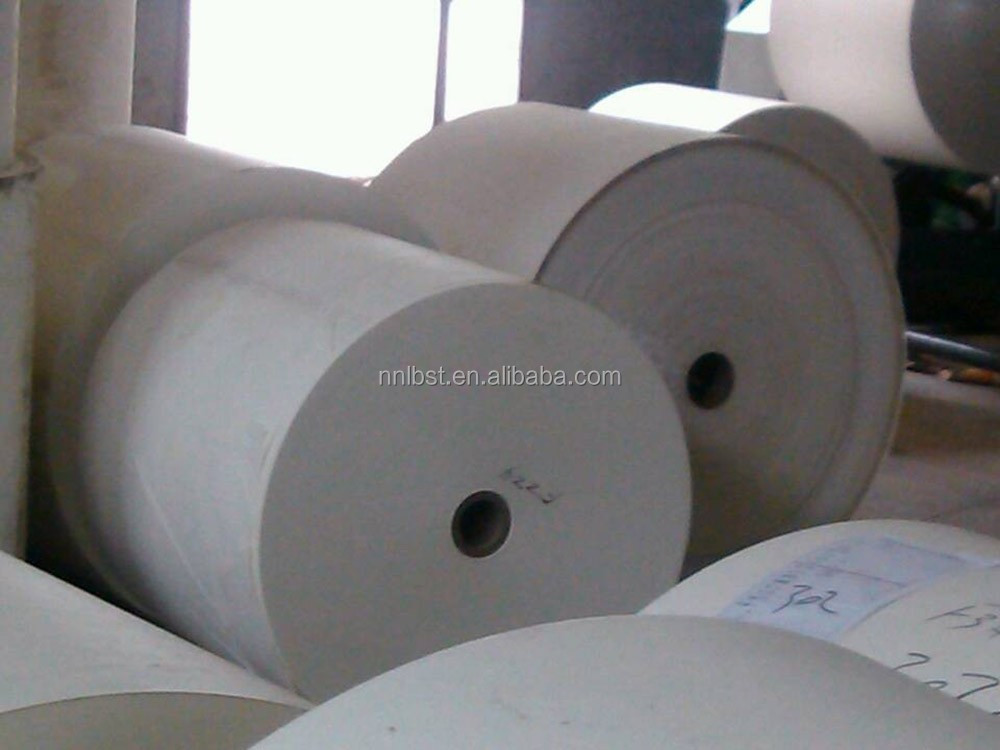 Bleached bagasse pulp and PE coated paper material for paper cups