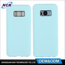 MOQ=100pcs mobile phone accessories factory in china 360 full cover ultra thin pc silicone case for s8