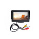 Plastic car roof monitor mini tv car monitor 4.3 inch tft lcd standalone car reversing monitors