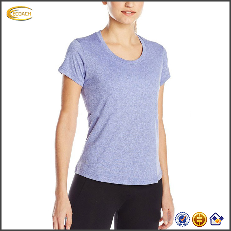 2017 NEW custom logo simple design yoga sports wear blank women indoor sports t-shirt fitness t shirts