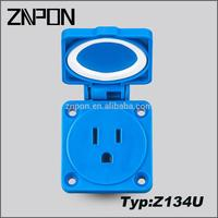Z134U 15 amp electrical socket europe made in China