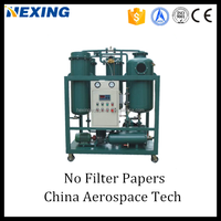 Pure Physical Used Turbine Oil Purifier System,Machine Turbine Oil Filter with Mobility