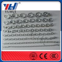 straight welded decorative metal link chain