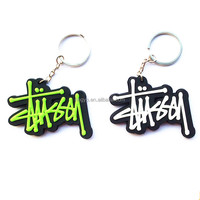 Customize PVC Rubber create keychains Key chain Keyring