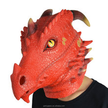 Most Popular Party Halloween Mask Latex Fire Dragon Mask