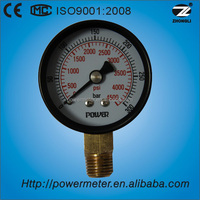 "2.5 ""60mm black steel case brass bottom connection high pressure burdon tube barometer"