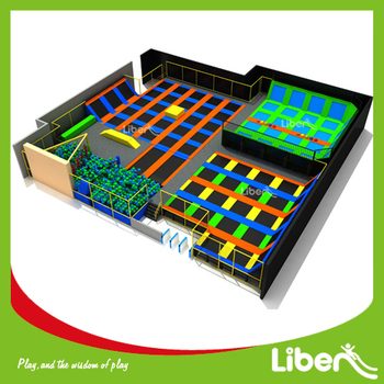 Durable Safe Indoor Kids Trampoline Park with Enclosure,Trampoline Park