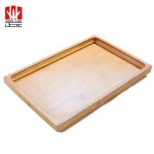 Simple design wood handmade bamboo pizza serving food tray