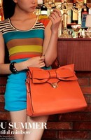 Women Leather Satchel Tote Purse Handbag Korean Fashion