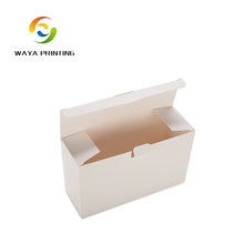 White cardboard with own logo printing foldable Stationery box package