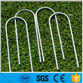 "4mm 6"" x 1"" x 6"" Hot dipped galvanized U Garden staples"