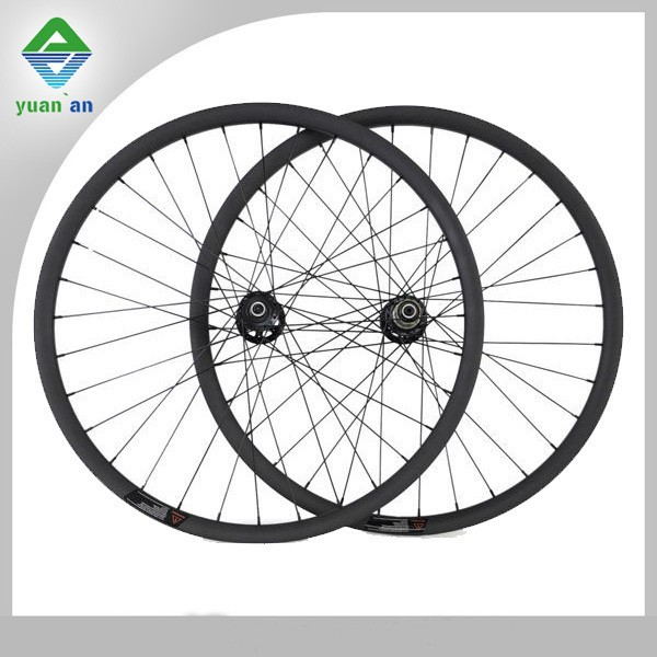 dh industrial ltd 26 inch mountain bike wheel carbon fiber 33mm width 30mm depth carbon mtb wheel