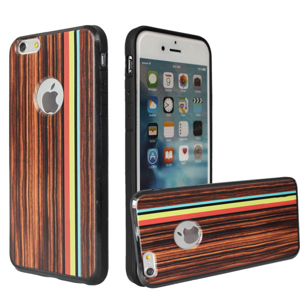 Hot selling thickening soft tpu anti gravity case wood mobile phone cover for iphone 6s