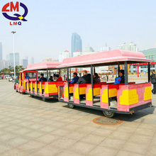 New style amusement park train ride used tourist trackless train for sale