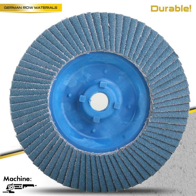 T27 Quick Install 4.5'' Plastic backing Flap disc For Stainless steel