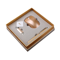 Corporate Gift Box including pen and wireless mouse and usb