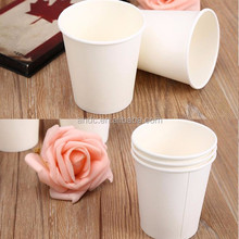 cheap and good quality white paper cup 7OZ 200ML for cold drink