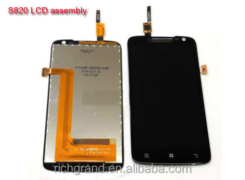 Original LCD Display +Touch Screen Digitizer Assembly for Lenovo S820